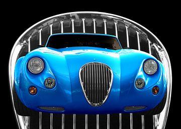 Wiesmann Roadster MF3 in blauwe kleur van aRi F. Huber