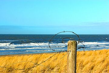 Het strand achter prikkeldraad van Wilma Overwijn