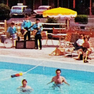Muziek aan het zwembad (007) von Melanie Rijkers