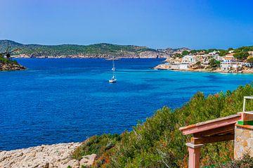 Idyllisch uitzicht op baai aan zee in Sant Elm op het eiland Mallorca, Spanje Middellandse Zee van Alex Winter