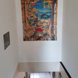 Klantfoto: Cucina Madonie van Gabi Hampe, op canvas