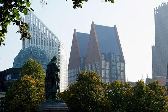 Skyline, Den Haag. Gezien vanaf het Plein van Gerrit de Heus