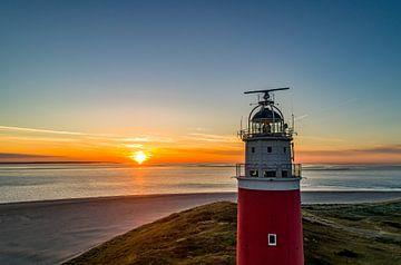 Leuchtturm Eierland Texel Sonnenaufgang von Texel360Fotografie Richard Heerschap