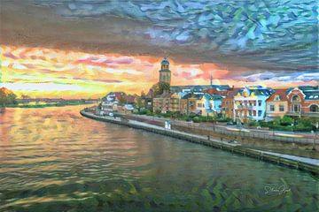 Kleurrijk kunstwerk van Deventer in de stijl van Renoir van Slimme Kunst.nl