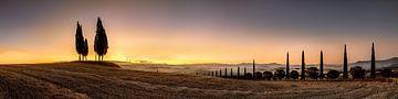 Sonnenaufgang in der Toskana. Weites XXL Panoramabild von Fine Art Fotografie