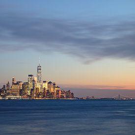 Sonnenuntergang Lower Manhattan von Sander Knopper