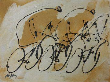 Drie fietsers von Leo de Jong