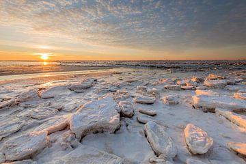 Bevroren Waddenzee van Richard Gilissen