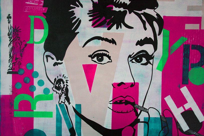 """Audrey Hepburn """"NYC"""" von Kathleen Artist Fine Art"""