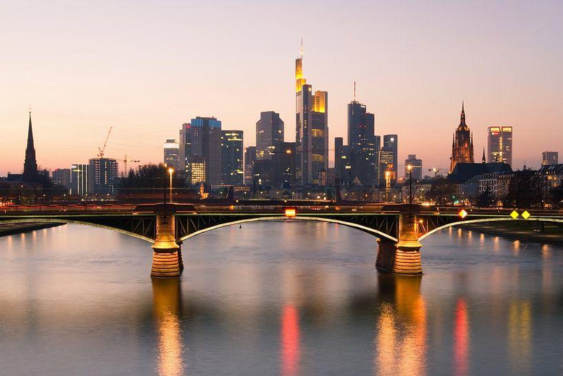 Frankfurt Skyline van Steffen Gierok