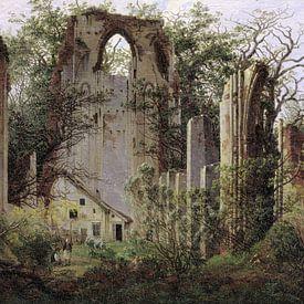 Caspar David Friedrich.  Ruïne in het bos van 1000 Schilderijen