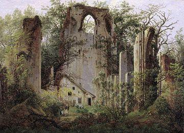 Caspar David Friedrich.  Ruine im Wald