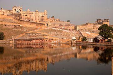 Amber Fort Jaipur, Rajasthan van Peter Schickert
