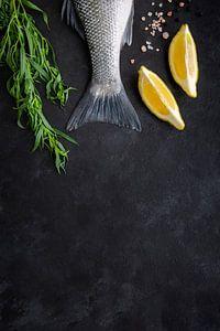Vissenstaart, dragon, citroen l Food Fotografie
