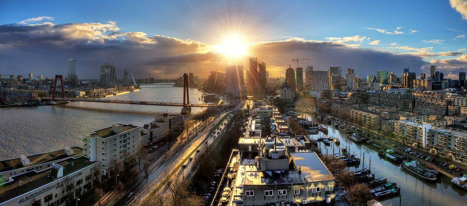 Rotterdam zonsondergang panorama