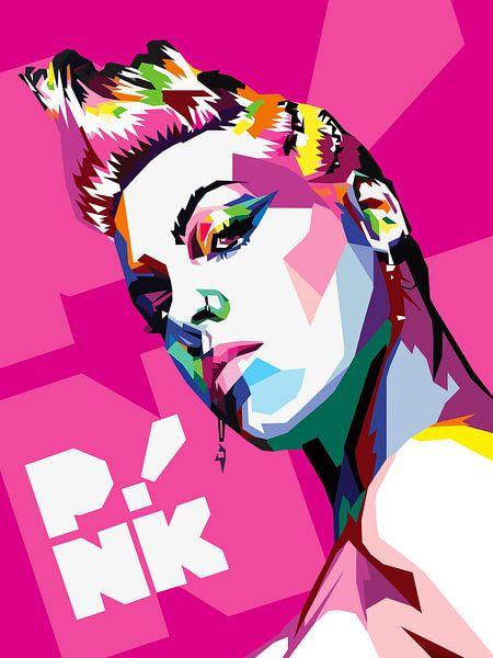 Pop Art Pink van Jan Willem van Doesburg