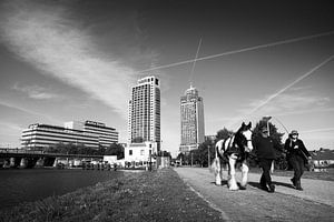Weespertrekvaart Amsterdam zwart-wit