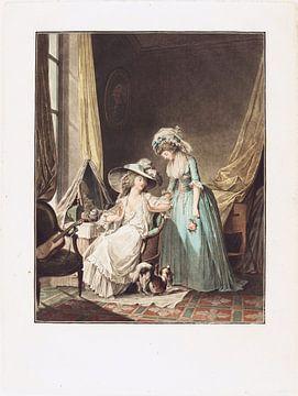 Die schwierige Beichte, Jean-François Janinet, 1787 von Atelier Liesjes
