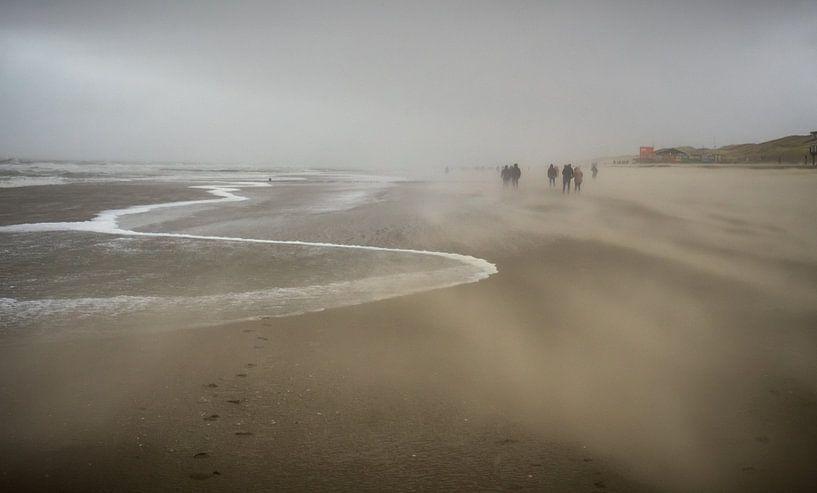 Zanderige kust bij Callantsoog van Martijn Tilroe