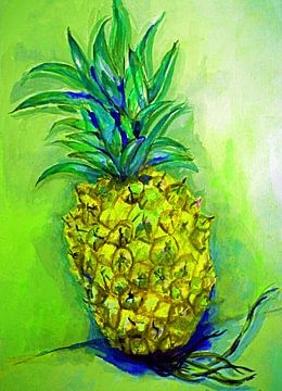 Ananas im Popart-Stil (1) von Ineke de Rijk