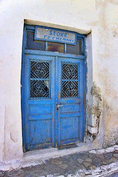 Blauwe winkeldeur Kreta