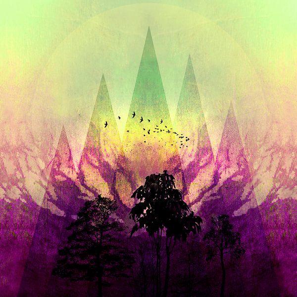 TREES under MAGIC MOUNTAINS V van Pia Schneider