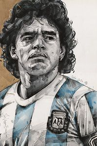 Diego Maradona schilderij