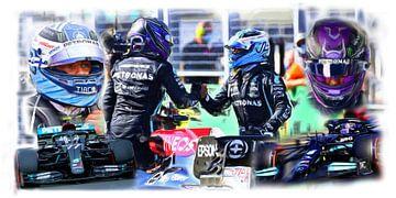 Bottas and Hamilton - Teammates Season 2021 van DeVerviers