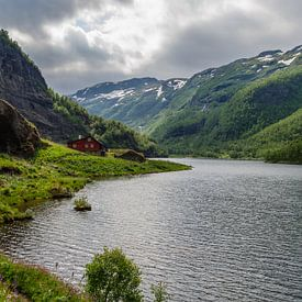 Red house in the mountains - Norwegen von Ricardo Bouman