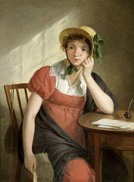 Meisje met brief, Adriaan de Lelie sur
