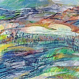 Abstract landschap 120215 van ART Eva Maria