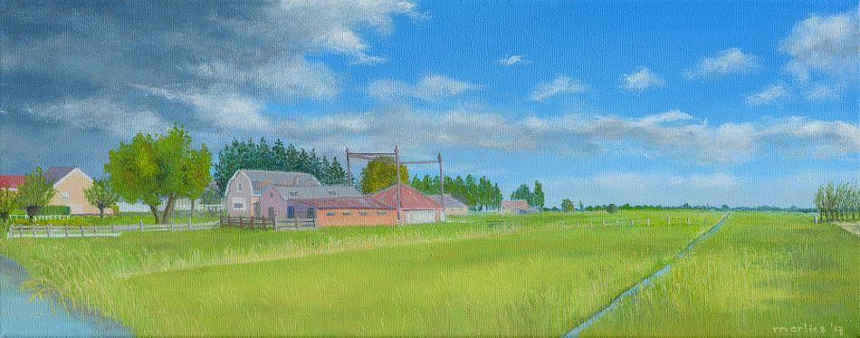 Horstermeer, Nederhorst den Berg. Acrylschilderij van Marlies Huijzer. van Martin Stevens