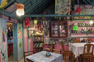 Interieur bar Isla Holbox, Mexico van René van Stekelenborg