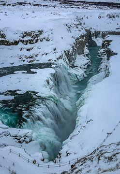 Gullfoss waterval in IJsland von Jo Pixel