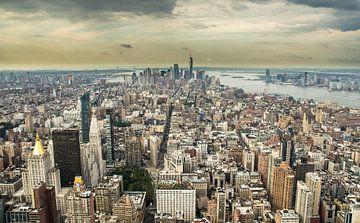 New York City stadsgezicht vanaf het Empire State Building von Karin Mooren