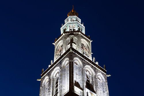 Martinitoren bij Avond (2) van Frenk Volt