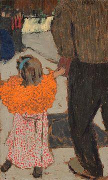 Kind trägt ein rotes Tuch, Édouard Vuillard