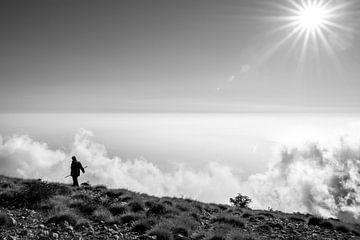 Schaapherder boven de wolken van