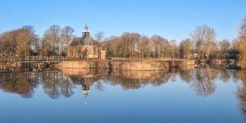 Slotgracht spiegel panorama sur Fotografie Egmond
