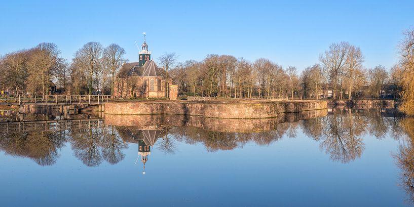 Slotgracht spiegel panorama van Fotografie Egmond