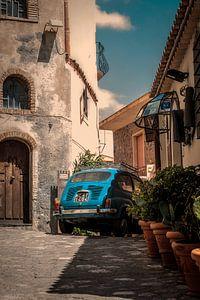 Taormina (Siciliaans: Taurmina)  Sicilië Italië. fotoposter of  wanddecoratie van Edwin Hunter