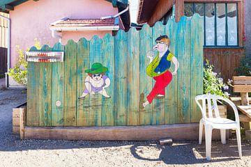 Jeu de Boule petit village L'herbe, Cap Ferret, France sur Evert Jan Luchies