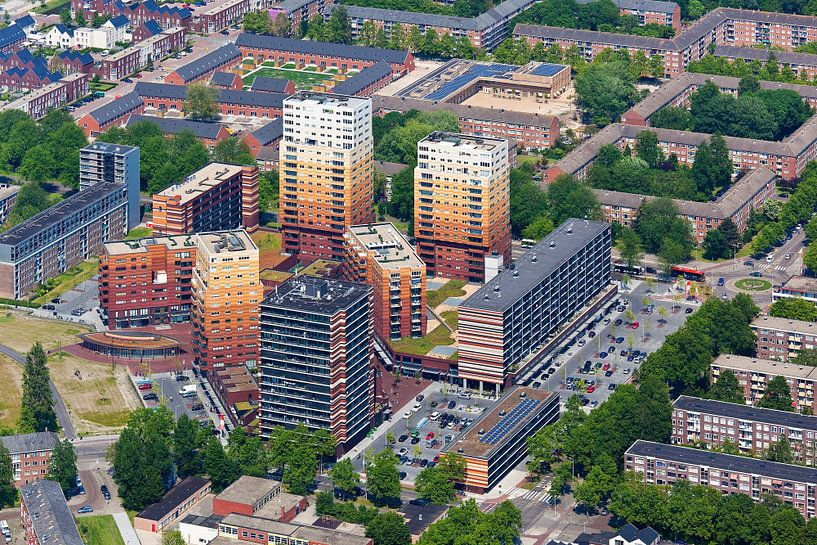 Photo aérienne Waterlandplein à Amsterdam sur Anton de Zeeuw