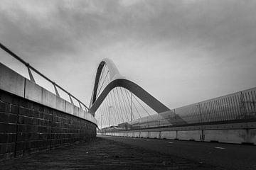 Oversteek, Nijmegen, zwart wit