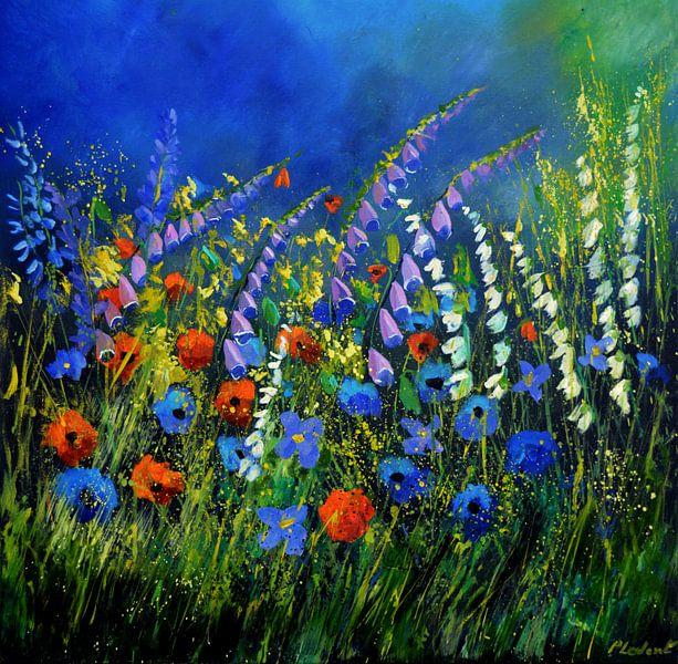Wilde zomerbloemen van pol ledent