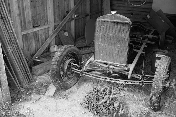 Oude auto in Noorwegen