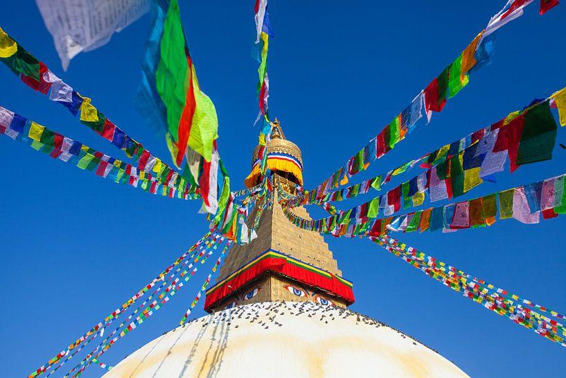 Bodnath Stupa in Kathmandu, Nepal van Jan Schuler
