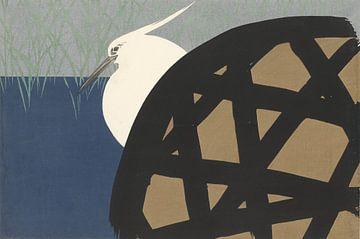Weißer Reiher von Kamisaka Sekka, 1909