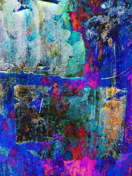 Modern, Abstract kunstwerk - Echo From The Past van