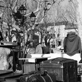Marché sur Place des Lices à Saint-Tropez sur Tom Vandenhende